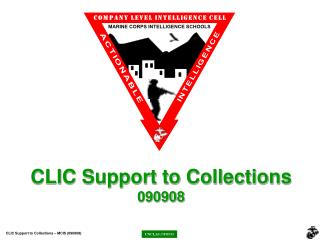 CLIC Support to Collections 090908