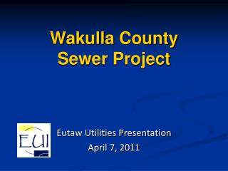 Wakulla County Sewer Project