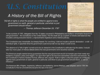 A History of the Bill of Rights
