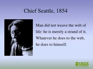 Chief Seattle, 1854