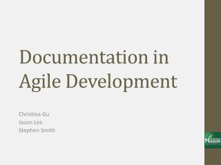 Documentation in Agile Development