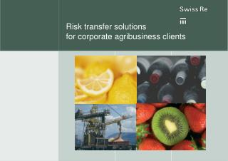Risk transfer solutions  for corporate agribusiness clients