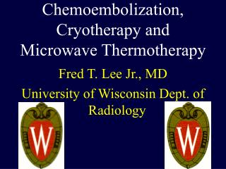 Chemoembolization, Cryotherapy and Microwave Thermotherapy