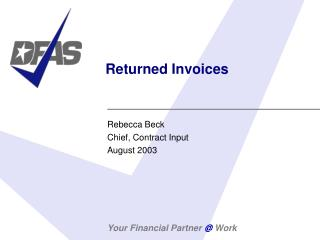 Returned Invoices