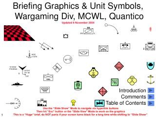 Briefing Graphics & Unit Symbols,  Wargaming Div, MCWL, Quantico Updated 8 November 2004