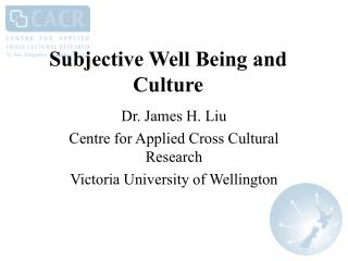 Subjective Well Being and Culture