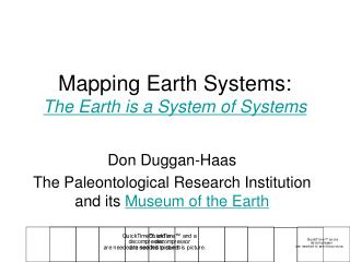 Mapping Earth Systems: The Earth is a System of Systems