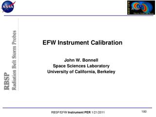 EFW Instrument Calibration