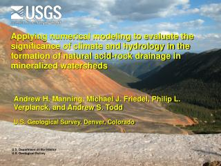 U.S. Department of the Interior U.S. Geological Survey