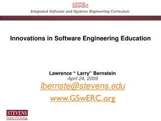 Integrated Software and Systems Engineering Curriculum