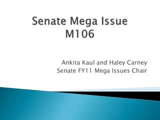Senate Mega Issue  M106
