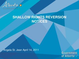 Shallow Rights Reversion Notices