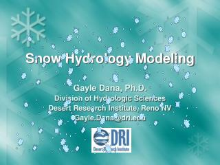 Snow Hydrology Modeling
