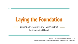 Open Educational Resources and  Open Textbooks for Community Colleges