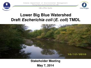 Lower Big Blue Watershed Draft  Escherichia coli  ( E. coli ) TMDL