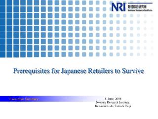 Prerequisites for Japanese Retailers to Survive