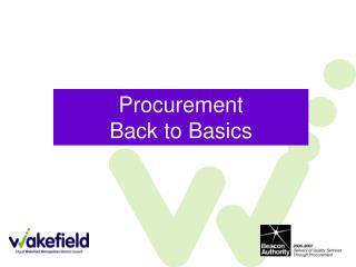 Procurement Back to Basics