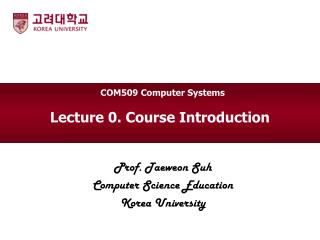 Lecture 0. Course Introduction