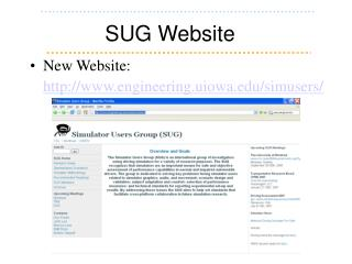 SUG Website