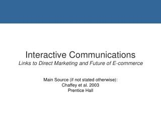 Digital Tools for E-Communication