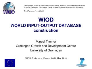 WIOD WORLD INPUT-OUTPUT DATABASE construction