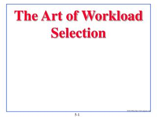 The Art of Workload Selection