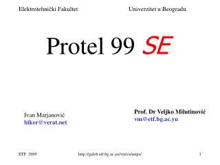 Protel 99  SE