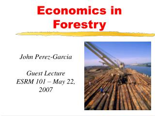Economics in Forestry