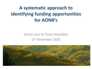 A systematic approach to identifying funding opportunities for AONB's
