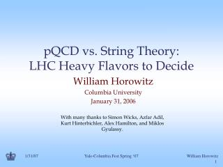 pQCD vs. String Theory: LHC Heavy Flavors to Decide