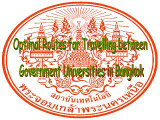 Optimal Routes for Travelling between  Government Universities in Bangkok
