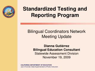 Standardized Testing and Reporting Program