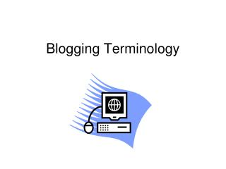 Blogging Terminology