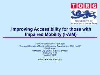 Improving Accessibility for those with Impaired Mobility (I-AIM)