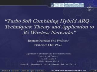 """""""Turbo Soft Combining Hybrid ARQ Techniques: Theory and Application to 3G Wireless Networks"""""""