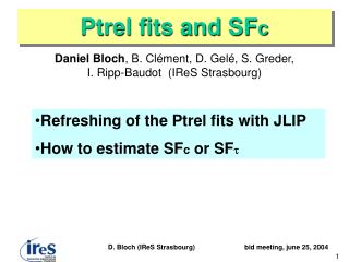 Ptrel fits and SF c
