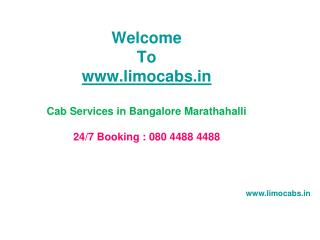 Cab Services in Bangalore Marathahalli Taxi on Rent