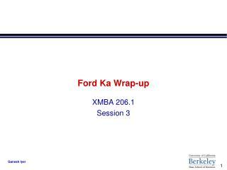 Ford Ka Wrap-up