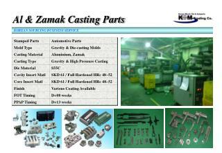 Al & Zamak Casting Parts