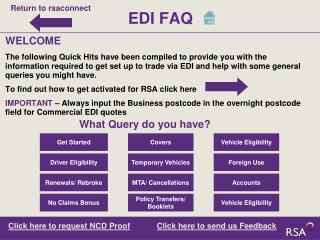 EDI FAQ