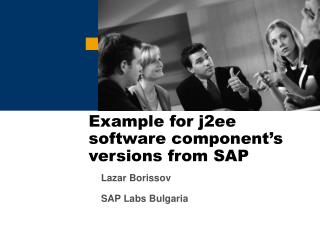 Example for j2ee software component's versions from SAP