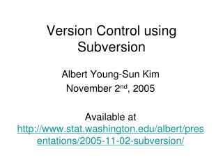 Version Control using Subversion