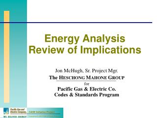 Energy Analysis Review of Implications