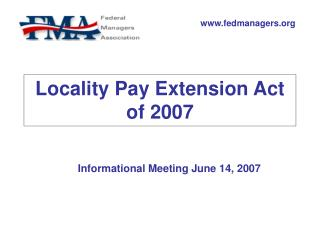 Locality Pay Extension Act of 2007