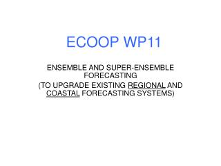 ECOOP WP11