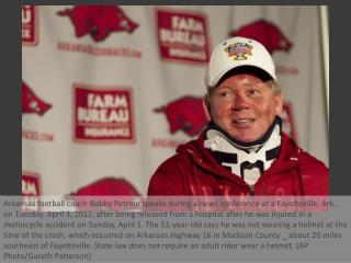 Petrino put on leave after crash