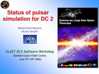 Status of pulsar simulation for DC 2