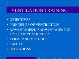 VENTILATION TRAINING