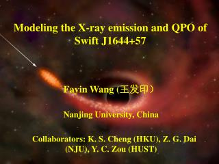 Modeling the X-ray emission and QPO of Swift J1644+57