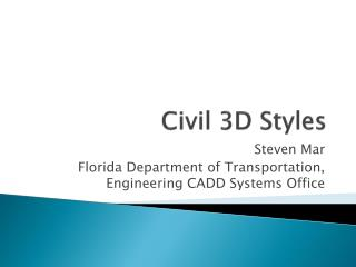 Civil 3D Styles